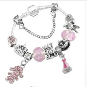 Disney-Aurora Sleeping Beauty Charm Bracelet